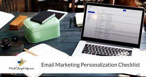 Email Marketing Personalization Checklist