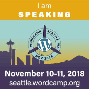 I'm speaking at WCSEA18