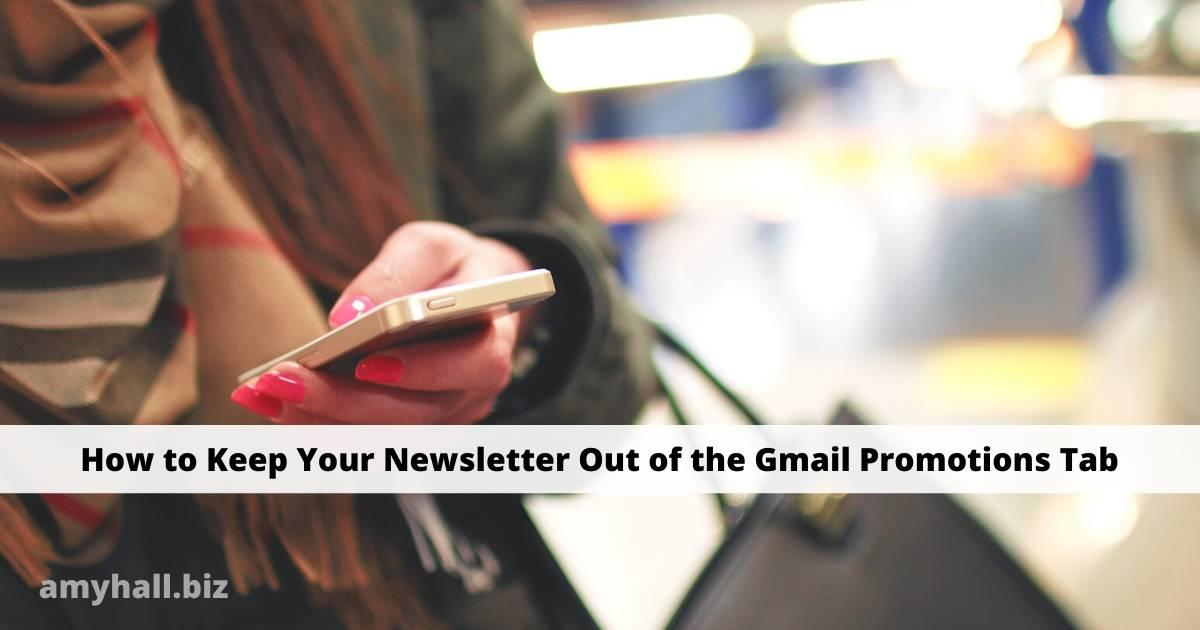 Woman reading email on an iPhone. How to Keep Your Newsletter Out of the Gmail Promotions Tab