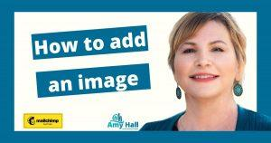 How to add an image to a blog post email