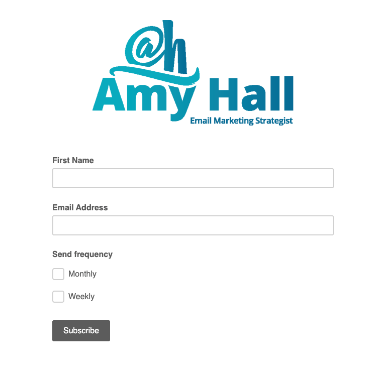 Mailchimp email subscription form