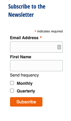 What and embedded Mailchimp form looks like.